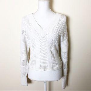 express • open knit v neck sweater